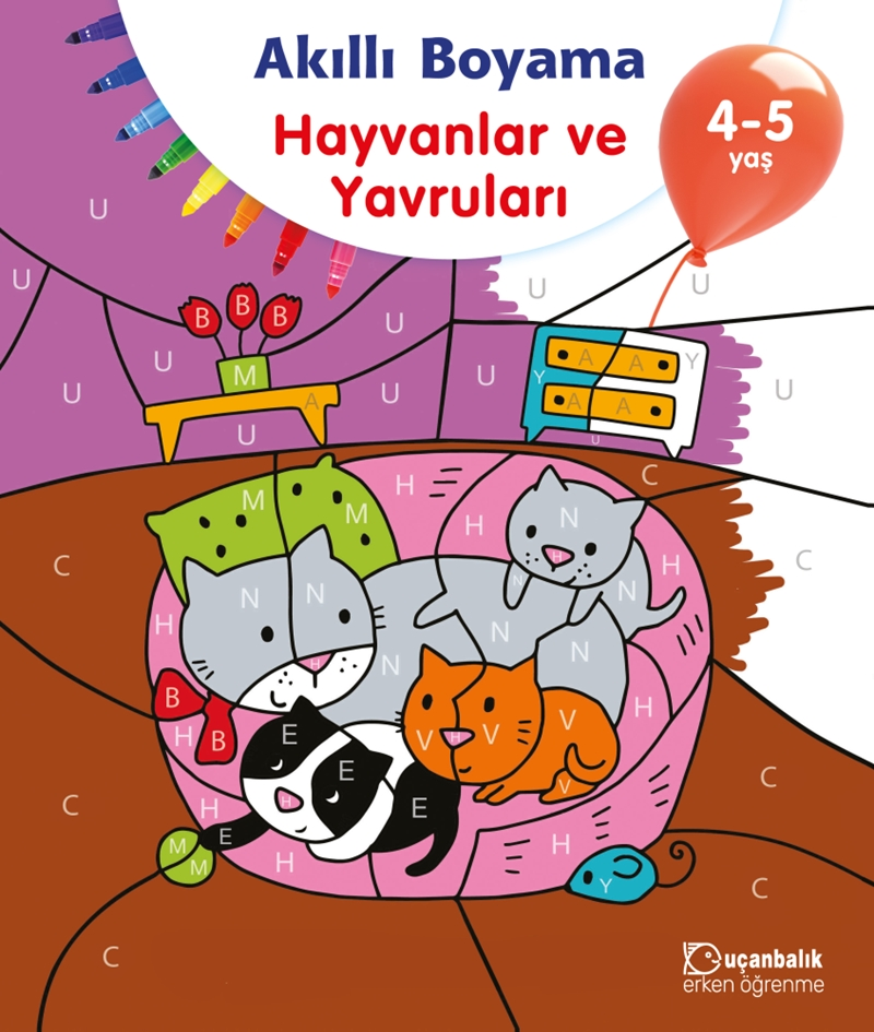 Akıllı Boyama Hayvanlar Ve Yavruları 4 5 Yaş