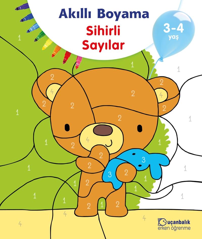 Akilli Boyama Sihirli Sayilar 3 4 Yas